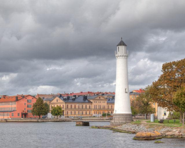 Fyren på Stumholmen. Karlskrona. Fotograf i Karlskrona landskapsbilder