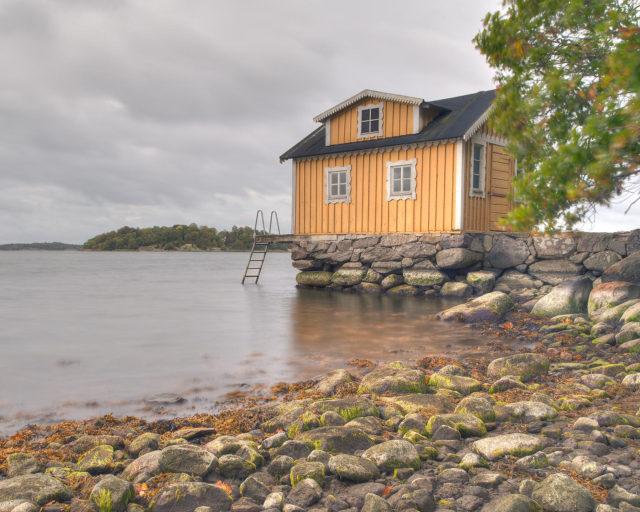Badhuset, Skärva herrgård i Karlskrona